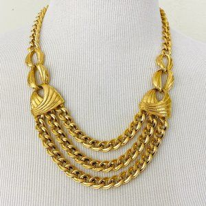 Vintage 1980s 1990s Gold Chunky Chain Necklace